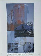 """Robert Rauschenberg HAND SIGNED Art Print, """"Tanya's Veil"""""""