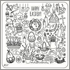 Moyou Unghie Moda Timbratura Nail Art Placche per Stampe Immagini 457 Pasqua