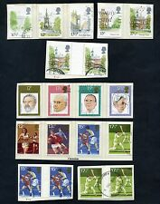 Lot of 43 stamps, Uk, 1980 Scott 834A,874A, 904-932 Four mint