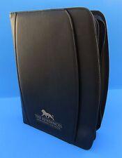 Black Leatherette 3 ring removable binder portfolio padfolio zipper organizer