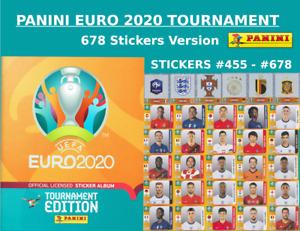 Panini EURO 2020 TOURNAMENT STICKERS - #455 - #678