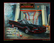 "BATMAN'S BATMOBILE- Full Color 12"" x16"" PhotoART by Katie West, Signed by Barris"