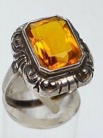 Jugendstil Art Deco Silber Ring 800 - großer Schmuckstein RG 59/18,8 mm / A 483
