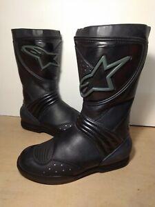 Alpinestars Ladies Womens Motorcycle Black Gore-tex Boots Size UK 6 EU 39