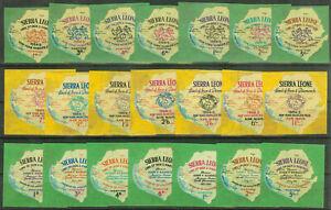 Sierra Leone 1964/65, Self Adhesives  Mi.# 251-271, MNH