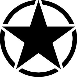 7cm Matte Black USA US Stern Car Jeep Bus Sticker Tattoo Film Car Sticker