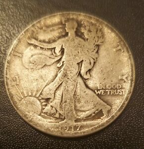 USA 1917 S Reverse Half Dollar - Silver - Early Date!