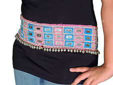Belly Dancer Belt - Embroidered Fashionable Chic Mirror Work Accessory One Size