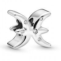 Pisces Zodiac Fische PANDORA Sternzeichen Charm 925er Sterlingsilber 798426C0