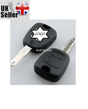 REPLACEMENT 2 BUTTON REMOTE KEY FOB CASE FOR PEUGEOT 106 107 206 207  307 406