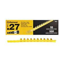 ITW Ramset 100pk, .27 Caliber, #4RS27 Yellow Strip Fastener Load 00667