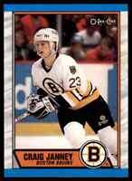 1989-90 O-PEE-CHEE CRAIG JANNEY RC BOSTON BRUINS #190