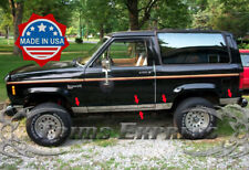 """1984-1993 Ford Bronco II Mid-Size SUV Chrome Rocker Panel Trim 5""""Stainless Steel"""