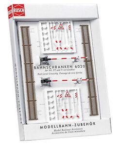 Busch 6020 Passage à Niveau, H0 Maquettes de Monde Kit de Construction 1:87