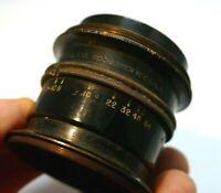Bausch & Lomb Anastigmat f10-64 Barrel brass Lens Rochester NY USA