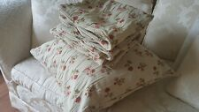 """21""""x23"""" vintage thick upholstery tapestry sofa cushion cover  ditsy rose cottage"""