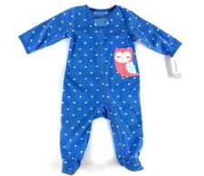 Carters Infant Fleece Owl Sleeper Footie Pajamas Sz 6M