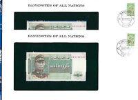 Banknotes of All Nations Burma 1972 1 Kyat P56 UNC Prefix DR 2 Consecutive