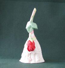 Vintage 1988 Enesco Rose Bell Vintage Porcelain Bell