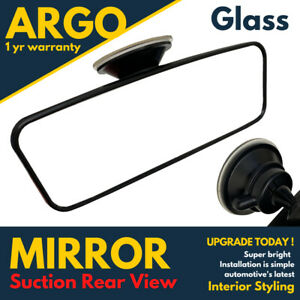 Universal Rear View Interior Car Mirror Adjustable Suction Cup Wide Long Safety