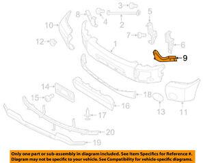 NISSAN OEM Front Bumper-Bumper Bracket Left 620457S600