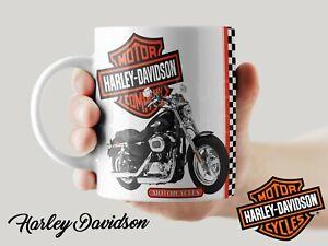Harley Davidson mug classic motorbike coffee tea retro gift cup