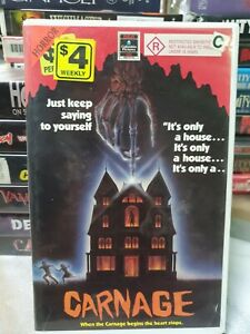 Carnage VHS video Tape Movie HORROR PAL