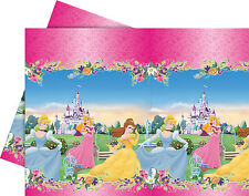 Disney Princess Birthday Party Supplies - Plastic Pink Tablecloth 1.20 x 1.80 m