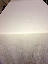 Lace Table Cloth Set of 5 Various Sizes White and Off White