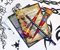 Henna Mehndi Tattoo Kit ,2 x kegel Tolle designs, Instant, gebrauchsfertig twbR