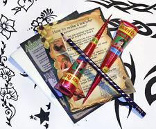 Kit Tatuaggio Henna Mehndi ,2 x henné coni Grandi disegni,Istantaneo,pronto per