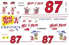 #87 Joe Nemechek Texas Pete Chevy 1/64th - Ho Scale Slot Car Decals