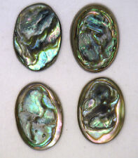 Antique Vintage Oval Mother of Pearl or Abalone Disc 1/set #J126