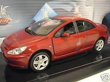 PEUGEOT 307 CC rouge cabriolet modèle fermé o 1/18 SOLIDO 8148 voiture miniature