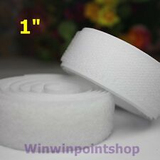 """2 Feet Hook and Loop White Color VelKo Sew On 1"""" Nylon Material No Adhesive"""