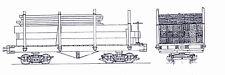 REWARD MINE COMPANY 2' GAUGE 16' FLATCAR WITH LOAD On2 Model Railroad Kit TC7984