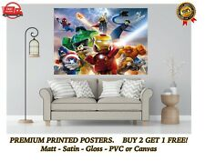 Lego Marvel Avengers Heroes Large Poster Art Print Gift A0 A1 A2 A3 A4 Maxi