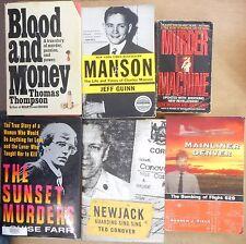 True Crime Real Murders Serial Killer Flight 629 Manson Sunset Mafia 6 book lot