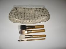 MAC 4 Piece Mini Face Brush Set Kit with Makeup Bag (NEW, Discont)