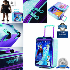 "Luggage Spinner Disney Frozen Elsa Anna Softside Rolling Suitcase 18"" Kids Child"