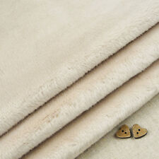 Latte Smooth Cuddle Soft Fur Fabric / quilting fleece light brown teddy toy bear