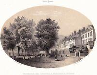 Bagnères de Bigorre Promenade Coustous Hautes Pyrénées Lithographie Gorse 1850