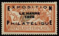 N°257A - EXPOSITION PHILATELIQUE DU HAVRE - Timbre de France - Charnière // 192