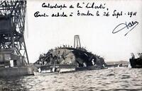 CPA 83 TOULON CARTE PHOTO DE LA CATASTROPHE DU LIBERTE CLICHE N°1  (BELLE CPA
