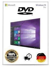 Microsoft Windows 10 Professional Pro Key + DVD 64 Bit Version Deutsch x64 CD