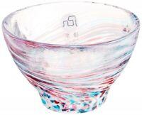 Guinomi Sakazuki Tsugaru bi-doro japanese glass Sake cup Haru Kasumi spring haze