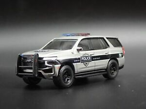 2021 CHEVY CHEVROLET TAHOE POLICE PURSUIT VEHICLE 1:64 SCALE DIECAST MODEL CAR