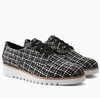 Next Monochrome Tweed Cleated Lace-Ups 9/43