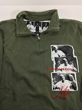 MAKAVELI BRANDED 1/4 Zip Shirt Mens Size Large L Tupac 2Pac Green