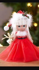 "SET of 4 PRECIOUS MOMENTS 7/"" CHRISTMAS DOLLS /'TIS THE SEASON Tree,Snowman,Santa+"